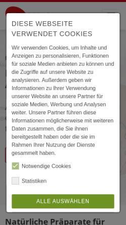 Vorschau der mobilen Webseite www.wolz.de, Dr. Wolz Zell GmbH
