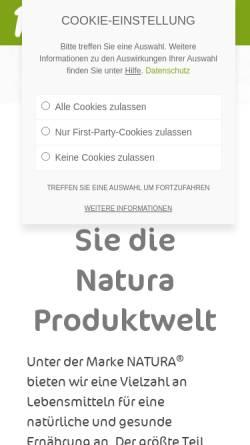 Vorschau der mobilen Webseite www.naturawerk.de, Natura-Werk Gebr. Hiller GmbH & Co. KG