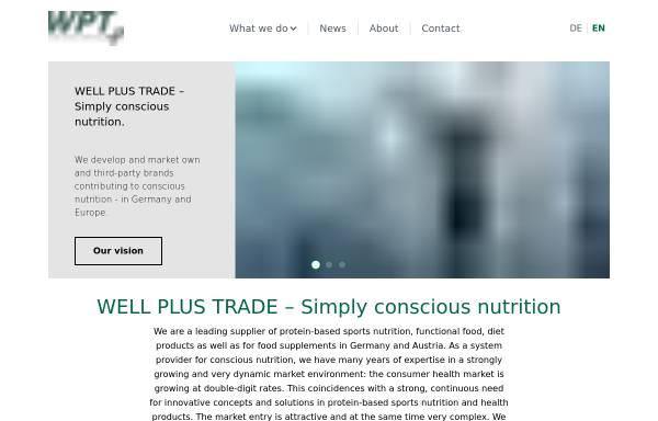 Vorschau von www.wellplustrade.com, Well Plus Trade GmbH