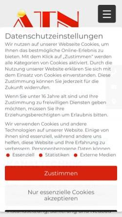 Vorschau der mobilen Webseite www.atn-de.de, ATN e.K.- Dieter Alfes