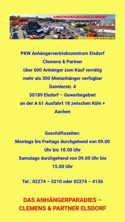 Vorschau der mobilen Webseite www.clemens-partner.de, Clemens und Partner - Kurierdienste
