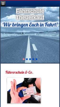 Vorschau der mobilen Webseite www.fahrschuletheuerkauf.de, Fahrschule Theuerkauf
