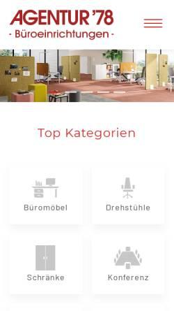 Vorschau der mobilen Webseite www.agentur78.de, Agentur '78