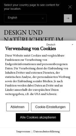Vorschau der mobilen Webseite www.bauwerk-im-stilwerk.com, Bauwerk Parkett GmbH