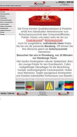 Vorschau der mobilen Webseite www.schaum-design.de, Dieter Lübke Schaumdesign GmbH