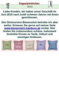 Vorschau der mobilen Webseite www.doppelpuenktchen-kinderzimmer.de, Doppelpünktchen
