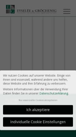 Vorschau der mobilen Webseite www.eg-moebel.de, Eysele und Gröchenig Büromöbel und Objektgestaltung