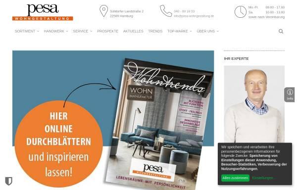 Vorschau von www.pesa-wohngestaltung.de, Pesa Wohngestaltung