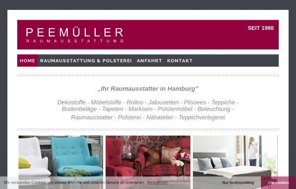 Vorschau von peemueller.de, Raumausstatter Peemüller