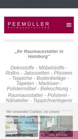 Vorschau der mobilen Webseite peemueller.de, Raumausstatter Peemüller