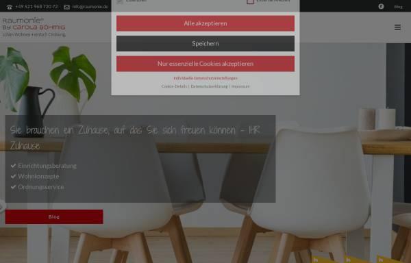 Vorschau von www.raumonie.de, Raumonie, Raumvisionen in Form und Farbe