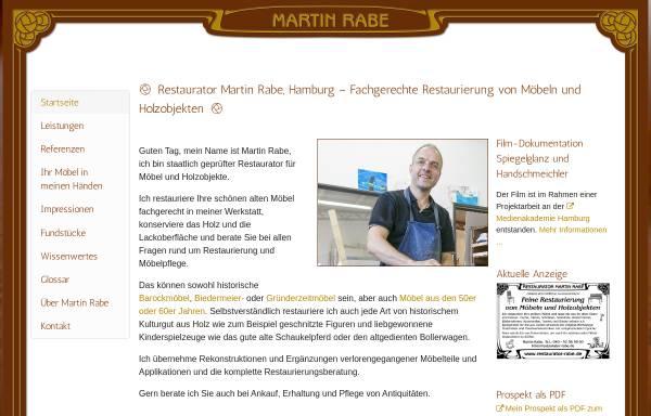 Vorschau von www.restaurator-rabe.de, Restaurator Martin Rabe