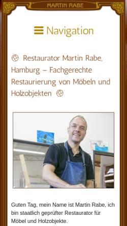 Vorschau der mobilen Webseite www.restaurator-rabe.de, Restaurator Martin Rabe