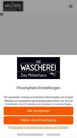 Vorschau der mobilen Webseite die-waescherei.de, Die Wäscherei