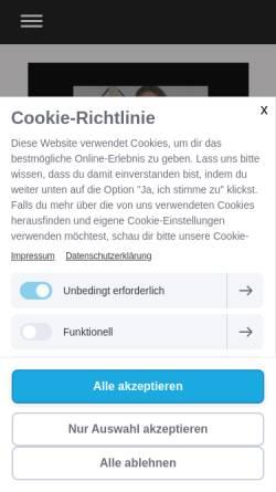 Vorschau der mobilen Webseite wohnkosmetik.de, Wohnkosmetik, Inh. Constanze Köpp
