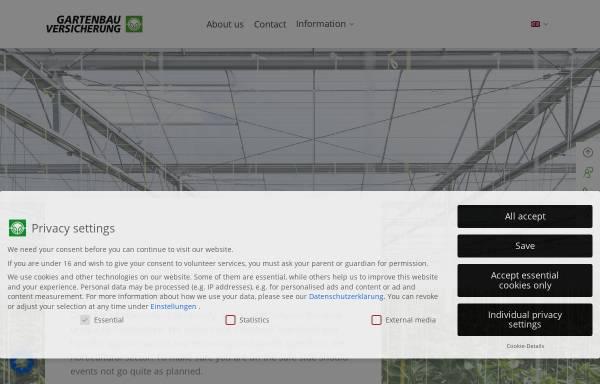 Vorschau von www.gevau.de, Gartenbau-Versicherung VVaG