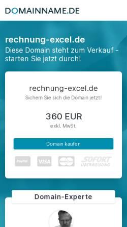Vorschau der mobilen Webseite www.rechnung-excel.de, Eugen Brisch Rechnung-Excel