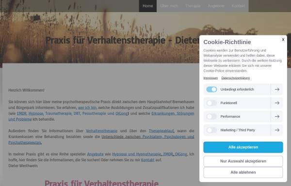 Vorschau von www.verhaltenstherapie-bhv.de, Verhaltenstherapie - Dipl.-Psych. Matthias Früh & Dipl.-Psych. Dieter Werthwein