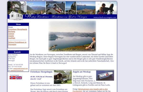 Vorschau von www.urlaub-norwegen.com, Urlaub in Norwegen