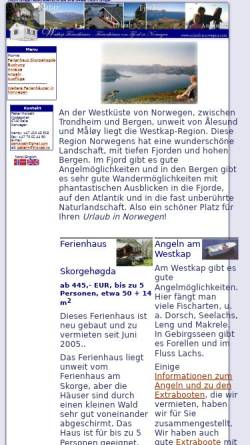 Vorschau der mobilen Webseite www.urlaub-norwegen.com, Urlaub in Norwegen