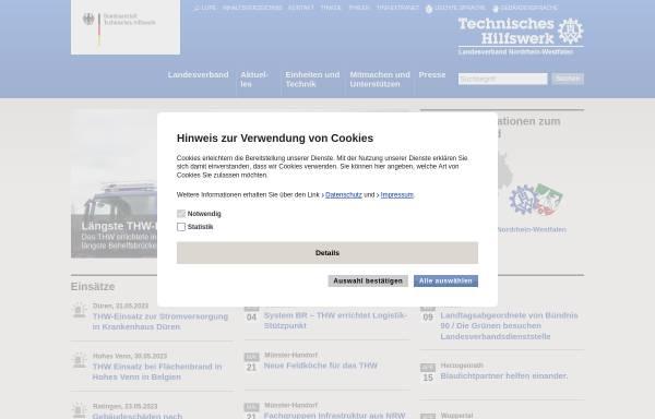 Vorschau von www.thw-nrw.de, THW Landesverband Nordrhein-Westfalen