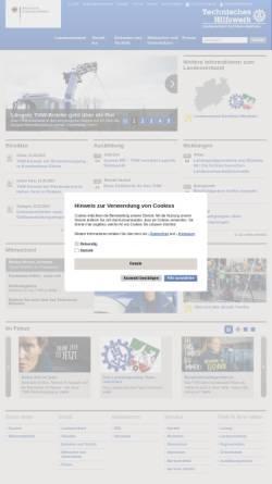 Vorschau der mobilen Webseite www.thw-nrw.de, THW Landesverband Nordrhein-Westfalen