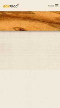 Vorschau der mobilen Webseite www.bonpago.de, Bonpago GmbH