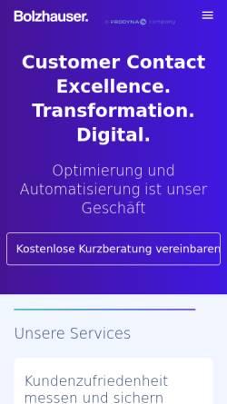 Vorschau der mobilen Webseite www.bolzhauser.de, Marcus Bolzhauser Unternehmensberatung GmbH