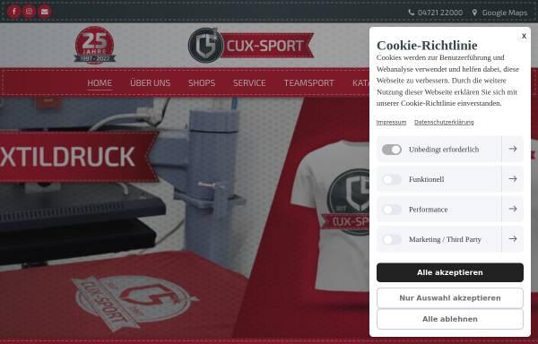 Vorschau von www.cux-sport.de, Cux-Sport GbR