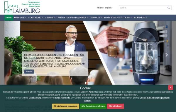 Vorschau von www.laimburg.it, Land- und forstwirtschaftliches Versuchszentrum Laimburg