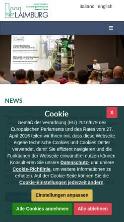 Vorschau der mobilen Webseite www.laimburg.it, Land- und forstwirtschaftliches Versuchszentrum Laimburg