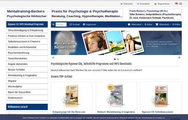 Vorschau von www.mentaltraining-beckers.com, Mentaltraining Beckers