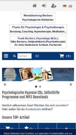Vorschau der mobilen Webseite www.mentaltraining-beckers.com, Mentaltraining Beckers