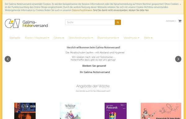 Vorschau von galima.de, Galima-Notenversand und -Verlag, Inhaber Matthias Wagenschein