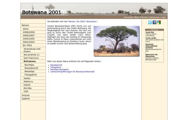 Vorschau von www.matuschek.net, Botswana Reise [Daniel Matuschek]