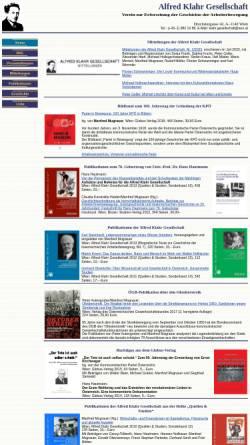 Vorschau der mobilen Webseite www.klahrgesellschaft.at, Alfred Klahr Gesellschaft