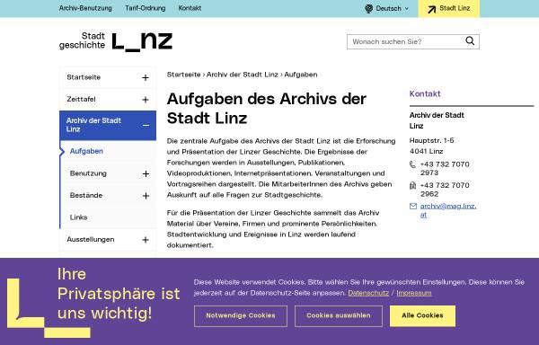 Vorschau von www.linz.at, Archiv der Stadt Linz - Bilder des Nationalsozialismus