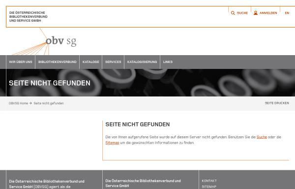 Vorschau von www.obvsg.at, Dissertationsdatenbank