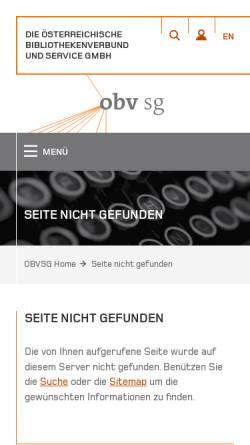 Vorschau der mobilen Webseite www.obvsg.at, Dissertationsdatenbank