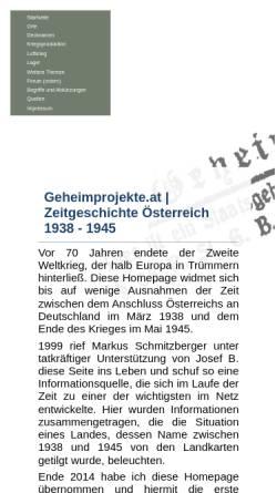 Vorschau der mobilen Webseite www.geheimprojekte.at, Geheimprojekte.at