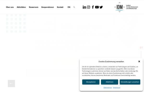 Vorschau von www.idm.at, Institut für den Donauraum und Mitteleuropa