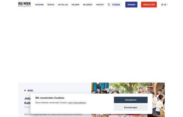 Vorschau von www.ikg-wien.at, Israelitische Kultusgemeinde Wien