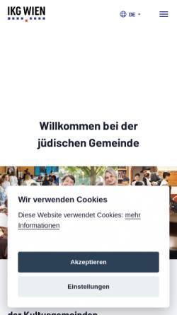 Vorschau der mobilen Webseite www.ikg-wien.at, Israelitische Kultusgemeinde Wien