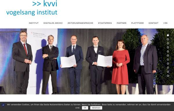 Vorschau von www.kvvi.at, Karl von Vogelsang-Institut