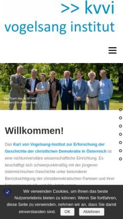 Vorschau der mobilen Webseite www.kvvi.at, Karl von Vogelsang-Institut