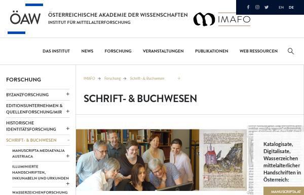 Vorschau von www.ksbm.oeaw.ac.at, Kommission für Schrift- und Buchwesen des Mittelalters