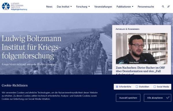 Vorschau von www.bik.ac.at, Ludwig Boltzmann Institut für Kriegsfolgen-Forschung
