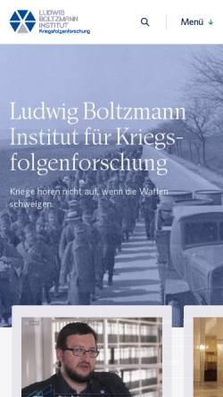 Vorschau der mobilen Webseite www.bik.ac.at, Ludwig Boltzmann Institut für Kriegsfolgen-Forschung
