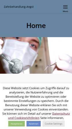 Vorschau der mobilen Webseite www.zahnbehandlung-angst.de, Zahnbehandlungsangst