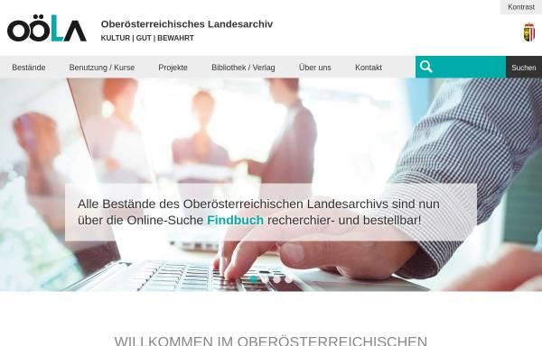 Vorschau von www.landesarchiv-ooe.at, Oberösterreichisches Landesarchiv